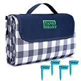 """60""""x80"""" Camping Outdoor Picnic Blanket Waterproof Sand Proof dampproof Scratchproof Foldable Washable mat, Sand Free Beach Blankets Oversized (Blue)"""
