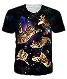 uideazone Camiseta unisex de manga corta con impresión 3D, camiseta de deporte y fitness, camiseta de verano con cuello redondo para hombres y mujeres