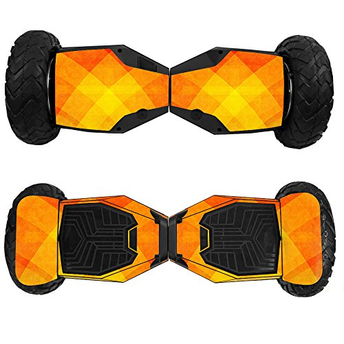 MightySkins Skin Compatible with Swagtron T6 Off-Road Hoverboard - Orange Texture | Protective, Durable, and Unique Vinyl Decal wrap Cover | Easy to Apply, Remove, and Change Styles | Made in The USA