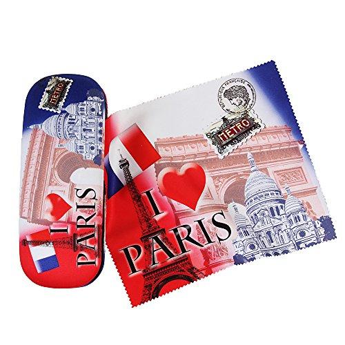 Brillenetui Paris mit Microfaservelour bezogen EXKLUSIV BEI UNS