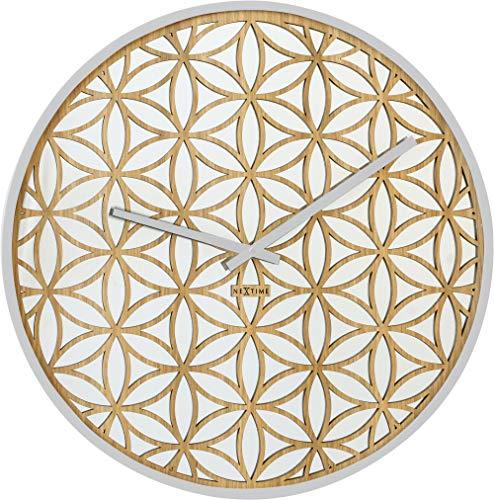 NeXtime 3194WI Bella Mirror, Bois, Blanc, 50 x 50 x 6,5 cm