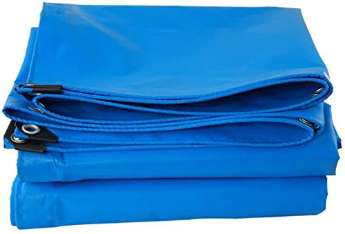 ATR Toile de bache légère PVC imperméable Prougeection Solaire Tricycle Canopée Capuchon de Pluie imperméable éponge Tissu imperméable 400g \\\\ O Facile à Transporter (Couleur  Bleu, Taille  4x9m)