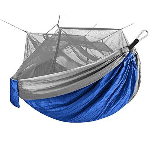 XUEER Acampar Hamaca, Doble Acampar Ligero Hamaca portátil para al Aire Libre Montañismo Viajes con Mochila - Nylon Hamaca Columpio,B