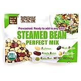Steamed Bean Perfect Mix (5oz x 12 packs) - USDA Organic Vegan Vegetarian Healthy Keto Food- Variety of Organic Edamame, Chickpea, Black Beans, Green Peas, Kidney Beans