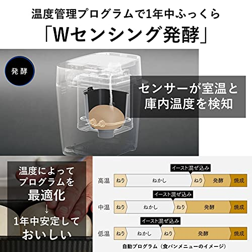 パナソニックホームベーカリービストロ1斤タイプ43メニューおうち乃が美対応レシピブック付きブラックSD-MDX4-K