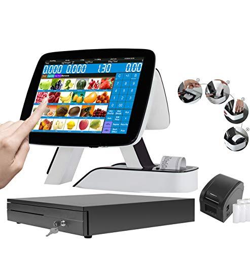 ZHONGJI Double Écran Tactile Intégré Thermique Imprimante De Reçu Caisse Enregistreuse POS Système Pour La Vente Au Détail ou Restaurant En SET06