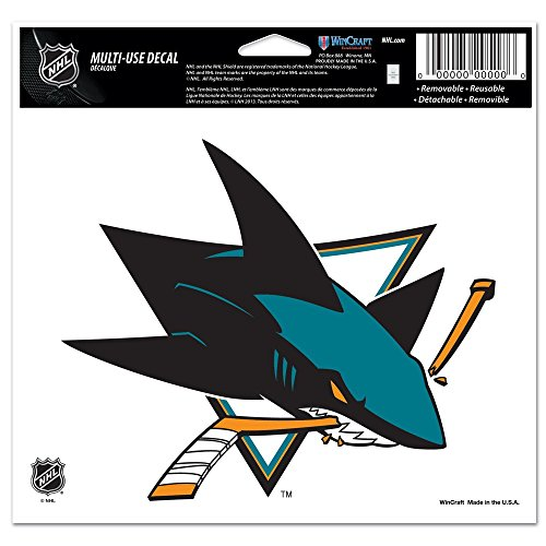 WinCraft NHL San Jose Sharks Multi-Use Colored Decal, 5' x 6'