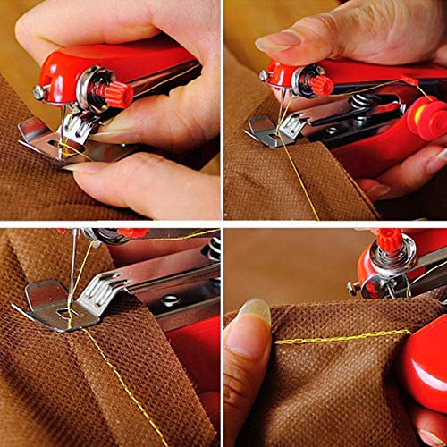 lo 1pcs Useful Portable Needlework Cordless Mini Hand-Held Clothes Fabrics Sewing Machine