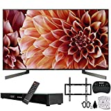 Sony XBR75X900F 75-Inch 4K Ultra HD Smart LED TV w/Soundbar Bundle Includes, Deco Gear Home Theater Surround Sound 31' Soundbar, Flat Wall Mount Kit for 45-90 inch TVs and More