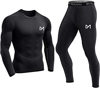 Meetyoo Compression Shirt Men's Sports Clothing Compression Trousers Long Tracksuit Breathable Sportwear Fitness for Running Cycling Yoga