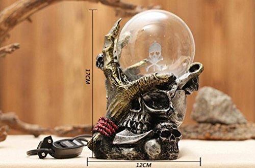 Lámpara de plasma con Base del Esqueleto de la Mano,AZXES,Iluminación de Ambiente para Noche, Luz Mágica para Halloween