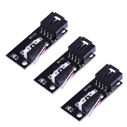 H HILABEE Interruptor De PCB 3 Interruptores De Final De Carrera Interruptor De Microinterruptor para Impresora Makerbot 3D