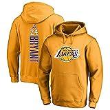 T-Shirt Unisexe de survêtements de Basket à Capuche pour Hommes et Femmes NBA Lakers 24# Kobe...