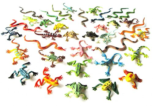 Miniblings 36x Schlangen Frösche Echsen Salamander Tierfiguren Aufstellfiguren Reptilien