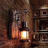 Cvbndfe Luz de Pared Industrial Metal E27 Vintage lámpara de Pared del Aplique del Accesorio Ligero de la decoración del hogar (Color : Marrón, tamaño : 23cm)