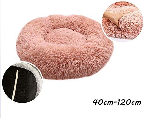 Sofa voor huisdieren voor de winter, mand van warme, dikke en comfortabele huisdieren bed voor pluche honden, zacht rond of ovaal kussen Nesting donut grot voor honden kat rustgevende kat warm nest pluche Winter comfortabel om te slapen, 80 cm, 50cm