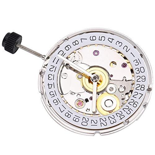 DAUERHAFT Piezas de Reloj Esenciales Movimiento automático Durabilidad Movimiento de Reloj para 2824 st2130 Reloj Mano de Obra Exquisita Pieza de Reloj mecánico(NO.2824 White)