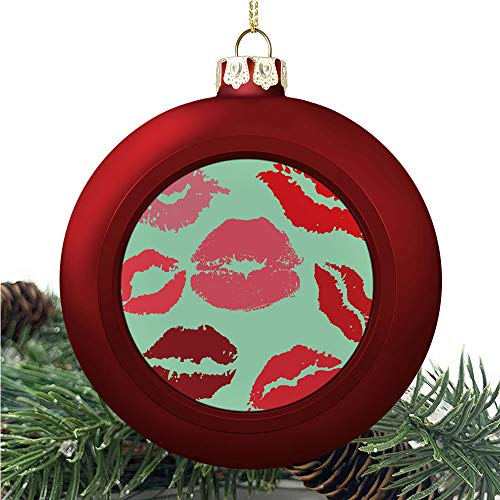 SUPNON Kissgrunge Looking and | Christmas Ball Ornaments 2020 Christmas Pendant Personalized Creative Christmas Decorative Hanging Ornaments Christmas Tree Ornament №YF0567