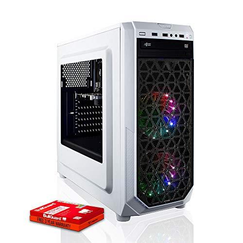 Fierce Exile RGB/RVB PC Gamer - Vite 4GHz Quad-Core AMD Ryzen 3 3200G, 1To Disque Dur, 8Go 3000MHz, AMD Radeon Vega 8 Graphiques, Windows Non Inclus 406673