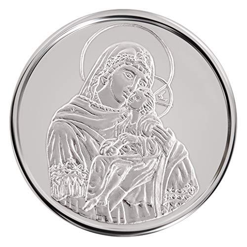 Conmemorativo Moneda Religiosa Medalla de plata Santísima Virgen María con el Niño Jesús 16 mm 3.0 g 1/10 oz
