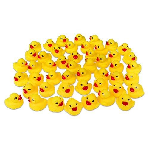 Schramm® 48 Stück Gummienten Quietsche Ente gelb ca. 3,5 cm Quietscheente Badeente Bade Ente Enten Badeenten Gummienten