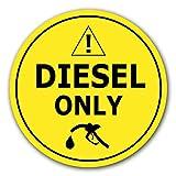10x Adesivi Solo Diesel Ø 7cm Etichettatura dei Carburanti Gasolio per Uso Interno o Esterno con Protezione UV Resistente alle Itemperie Segnale di Obbligo di STROBO