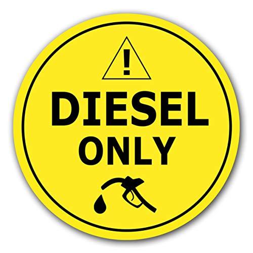 10 Stück Nur Diesel betanken Aufkleber Tankdeckel Ø 7cm Sticker Tanken Tankaufkleber Hinweiszeichen mit UV Schutz für Außen-und Innenbereich