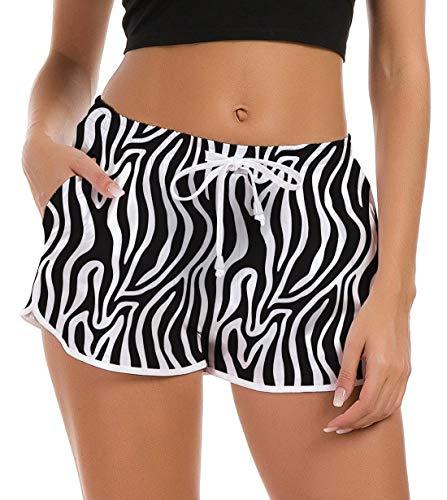 Fanient Damen Schwimmshorts Kurze Sportswear Shorts Badeshorts Mädchen Wassersport Bikini Hosen Sommer Schnell Trocknendes Strandhose S