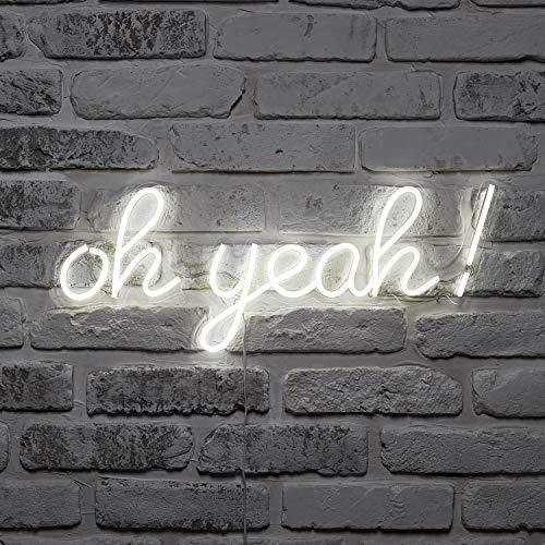 Lights4fun oh yeah! LED Neon Leuchtschriftzug strombetrieben