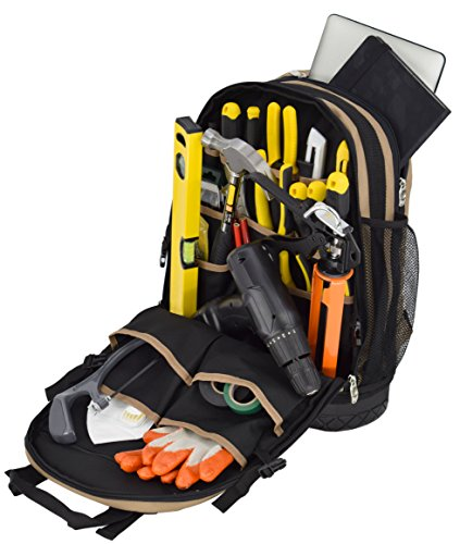 Jackson Palmer Tool Backpack, Contractor's Edition, Comfort-Design with Optimized Pockets...