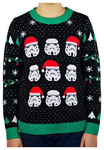 Star Wars Stormtroopers Ugly Christmas Sweater Boys/Girls 6yr - 12y Kids Sweater Small Multicolor