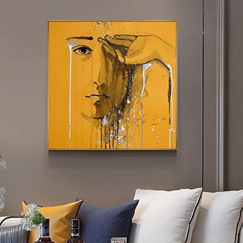 tzxdbh Astratti poster en afdrukken voor jongen Tristi afbeeldingen op canvas, wandafbeeldingen voor woonkamer Strane Cose 80x80cm (No frame) 7