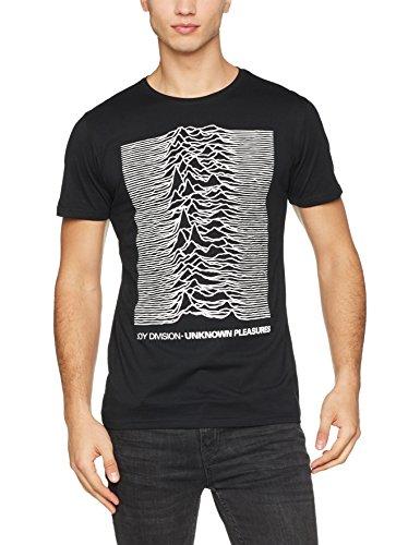MERCHCODE Herren Joy Divison UP Tee T-Shirt, Schwarz (Black 00007), Medium (Herstellergröße: M)