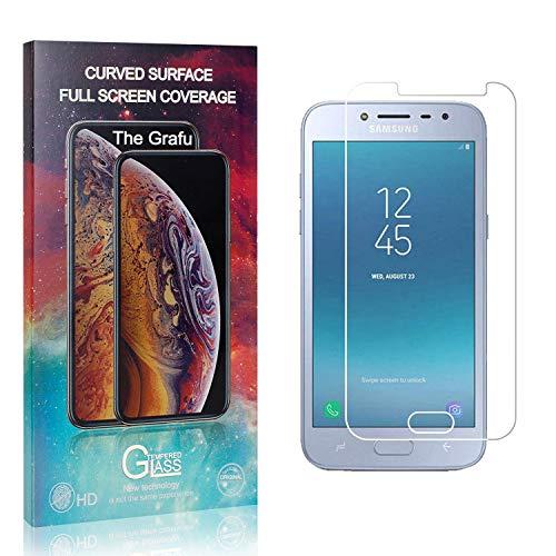 The Grafu Verre Trempé Compatible avec Galaxy J2 Pro 2018, 3D Touch Protection en Verre Trempé Écran pour Samsung Galaxy J2 Pro 2018, 99% Ultra Clair, Dureté 9H, 4 Pièces