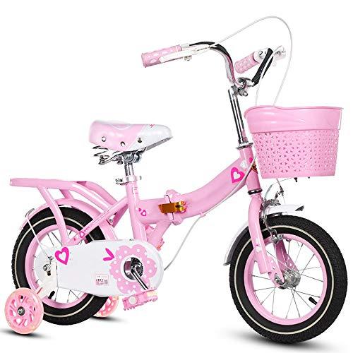 Axdwfd Infantiles Bicicletas Bicicletas para niños 12/14/16/18/20 Pulgadas, Bicicleta para niños de Acero al Carbono con Rueda de Entrenamiento Regalo para niños y niñas de 2-11 años