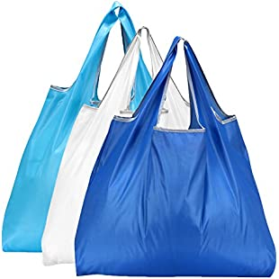 Reusable Shopping Bags - Eco-Friendly Foldable Grocery Bags for Shopping Organizing (3 Pack)