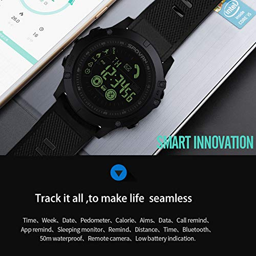 Birdfly Flagship Rugged Smartwatch 33-Month Standby Time 24h All-Weather Monitoring Under 20 Dollar (Black) 6