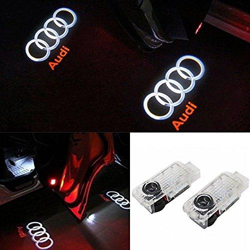 ANKIA 2 piezas Puerta de coche Luz de logotipo LED Proyector láser Luces Fantasma Sombra Lámpara de bienvenida Luz de cortesía