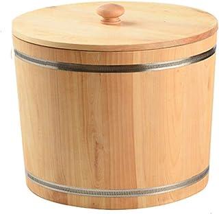Seau à Riz étanche 10kg20kg Boîte de Riz Domestique épaissie Pot de Riz en Bois Boîte de Rangement de Nouilles de Riz de C...