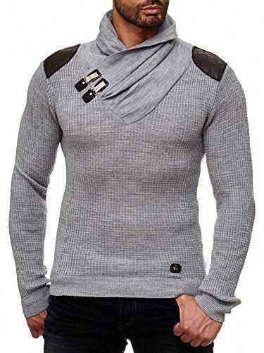 Redbridge Jersey de Punto Suéter Tejido Pulóver con Cuello Alto Gris S
