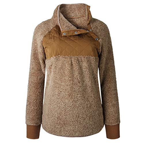 Pullover Damen Mantel Damen Mode Elegant Casual Warmes Top Aus Fleece Winter Warmer Und Bequemer Damen Langmantel Mode Damenbekleidung D-Coffee L