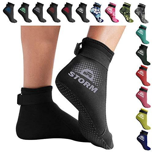 Chaussettes de sable originales de Bora Sportswear Chaussettes de volley-ball en n/éopr/ène pour la plage /& Eau Noir Sand Socks