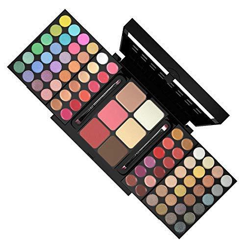 Pro Make-Up Set 78 Farben 48 Lidschatten 24 Lip Glanz 6 Stiftung Face Powder Blush Kosmetik Kit