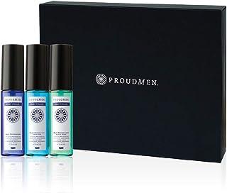 プラウドメン スーツリフレッシャー ミニ 携帯用 15ml 3種の香りギフトセット (グルーミング・シトラス、シトラスムスク(CM)、グリーンウッド(GW) 各1本) ファブリックスプレー