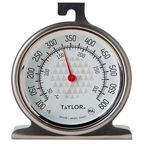 Taylor Precision Products RA14257 Taylor Oven Dial Thermometer, 1, Stainless Steel/Black