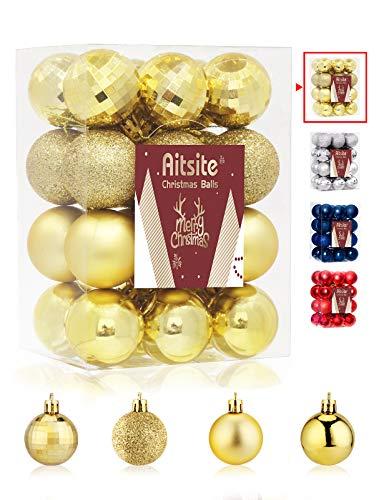 Aitsite 24PCS Bolas de Navidad 4 cm Bolas de árbol de Navid
