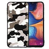 jbTec TPU-Case Handy-Hülle Camouflage passend für Samsung Galaxy A20e - Schutz-Hülle Silikon-Hülle Cover Tasche Bumper, Farbe:Weiß