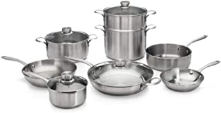 Best calphalon tri-ply stainless steel 13-piece cookware set Reviews
