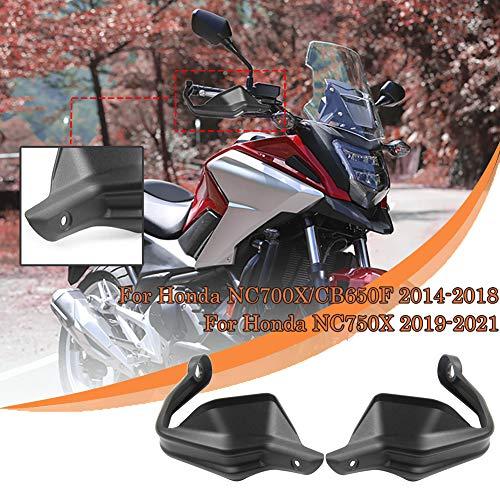 Lorababer Motocicleta para NC 700/750 X CB 650 F Protector de mano Protector de viento Manillar Guardamanos Barra de cepillo para Honda NC700X CB650F (2014-2018) NC750X (2019-2021) Accesorios