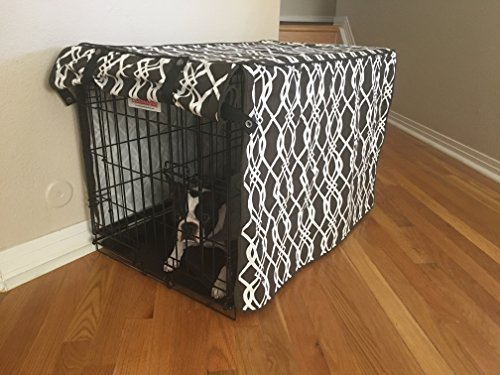 528 Zone Modern Brown & White Designer Dog Pet Wire Kennel Crate Cage House Cover